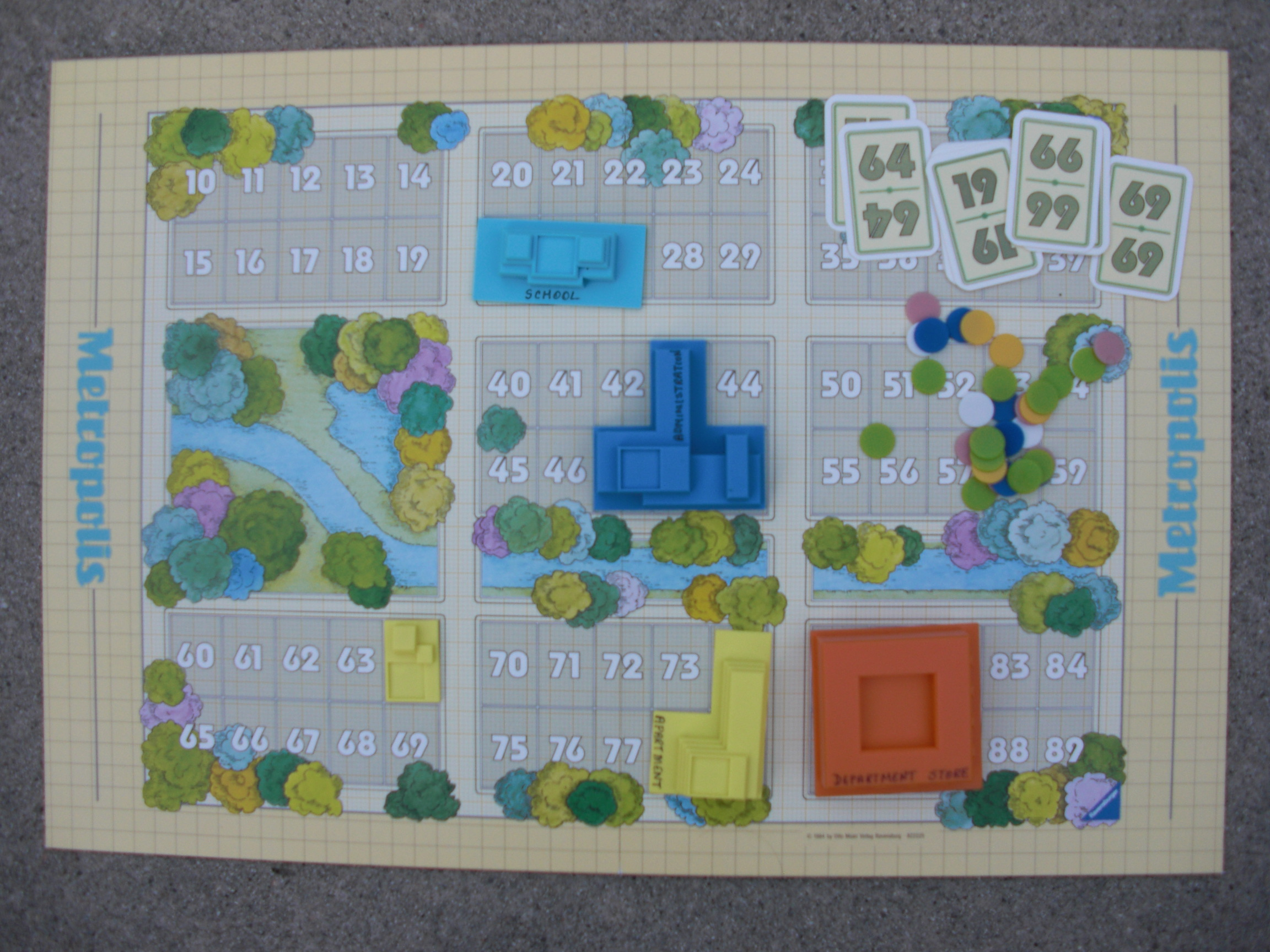 metropolis game board