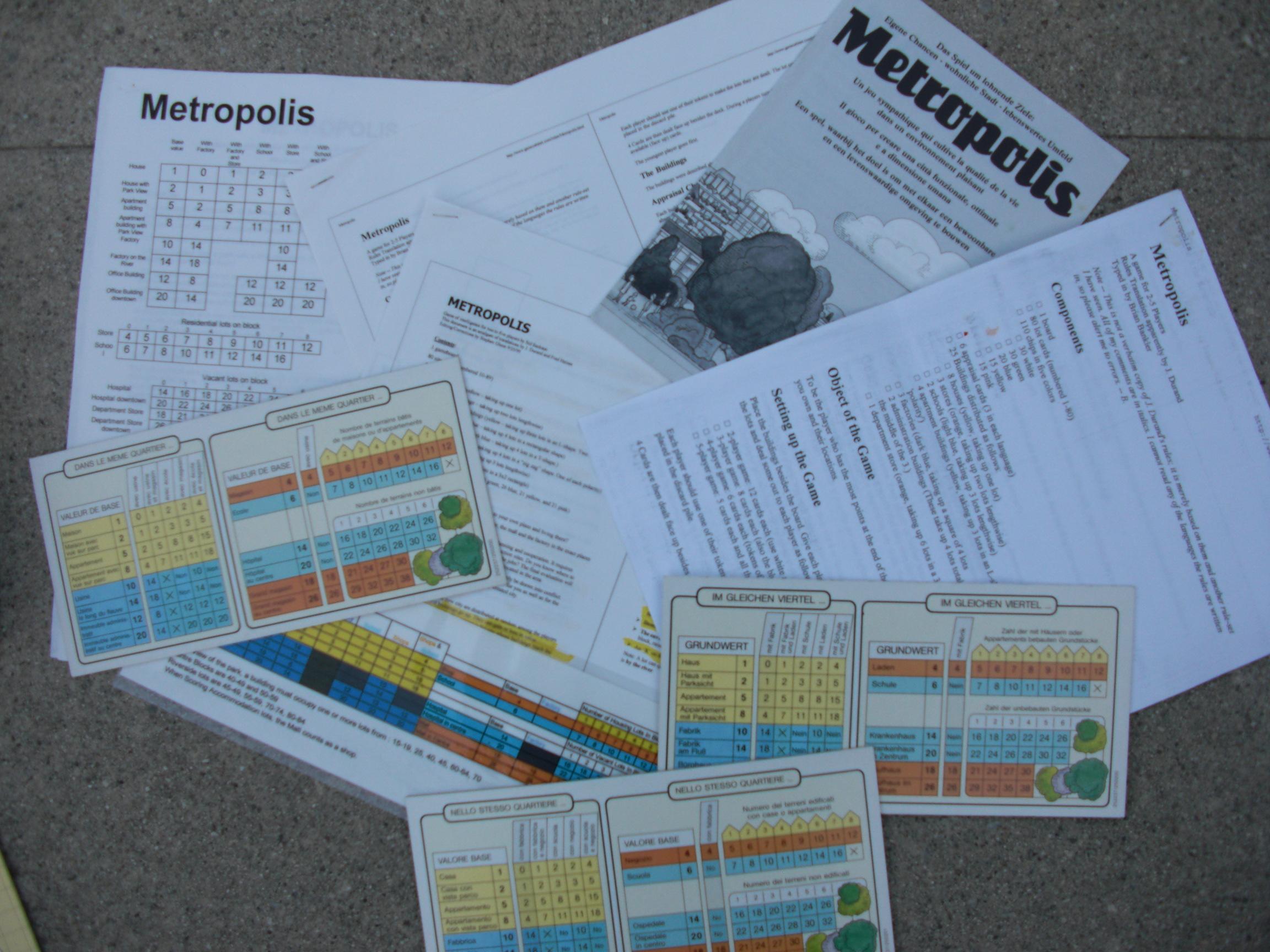 metropolis instructions