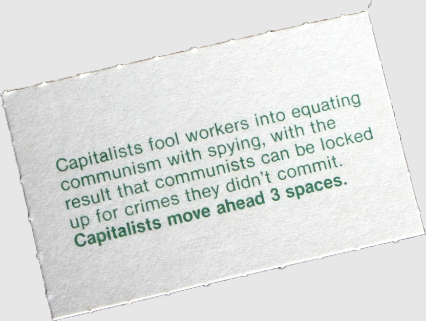 Class struggle game card