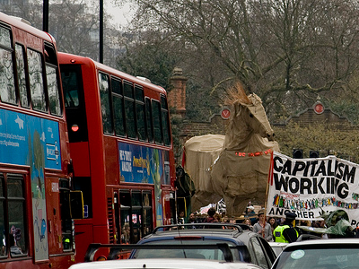 Trojan Horse at London demo