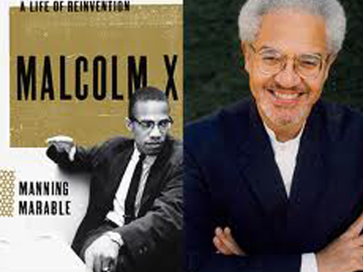 Malcolm X book and Marable