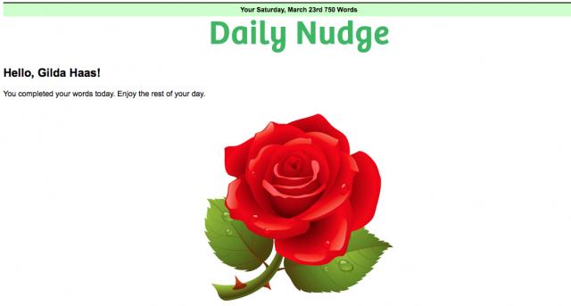 750 word rose