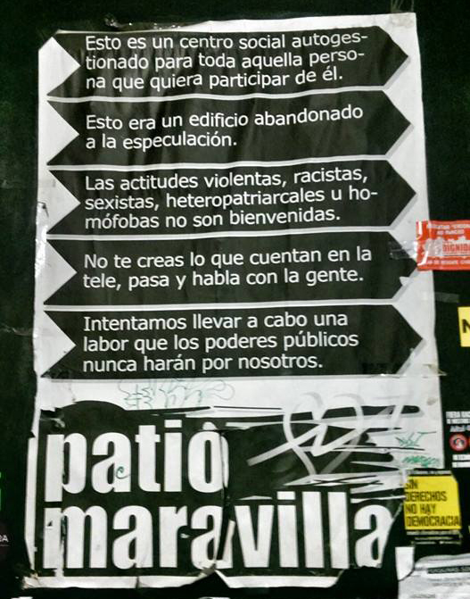 Patio Maravillas breakdown